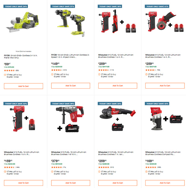 Home Depot Cordless Power Tool Deals of the Day 060721 Page 2