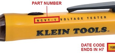 Klein NCVT-1 Voltage Tester Recall 2021