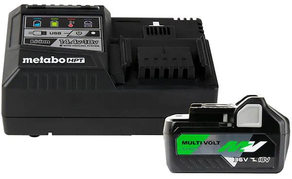 Metabo HPT MultiVolt Battery and Charger Starter Kit
