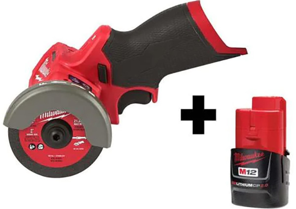 Milwaukee M12 Cordless Cut-Off Saw with Battery Bundle