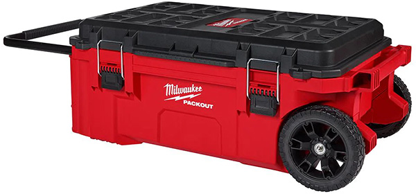 Milwaukee Packout Large Dual Stack Rolling Tool Box 48-22-8428 Closed