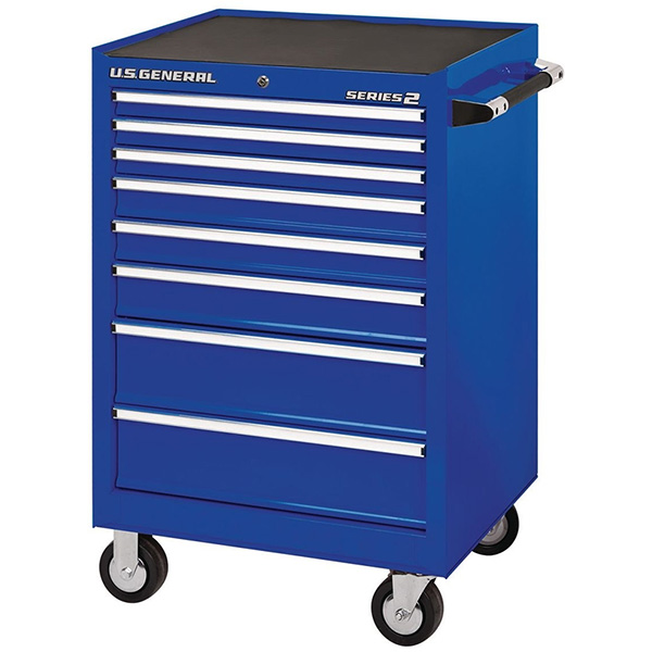 US General 26-inch Rolling Tool Box in Blue