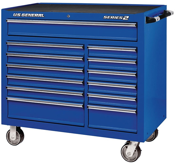 US General 44-inch Rolling Tool Box in Blue
