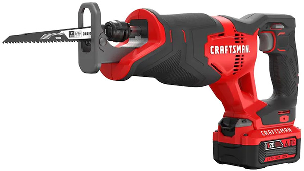Craftsman V20 Cordless Reciprocating Saw with Battery