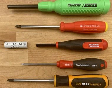 Megapro Precision Screwdriver Size Comparison
