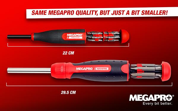 Megapro Precision Screwdriver vs Full Size Comparison