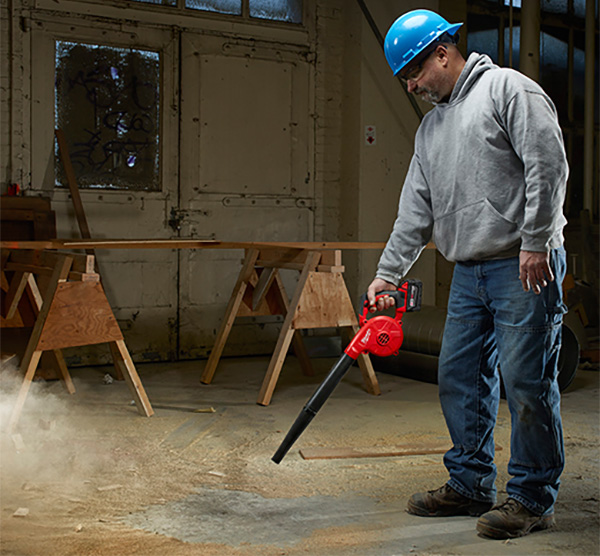 Milwaukee 0884 M18 Cordless Air Blower Cleaning Floor