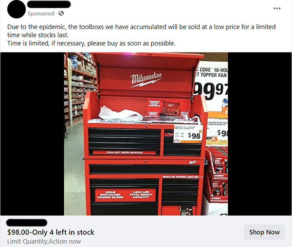 New Milwaukee Tool Box Scam