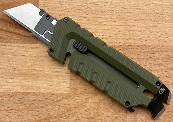 Gerber Prybrid Utility Knife Extended for Blade Change Front