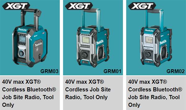 Makita XGT Cordless Radios