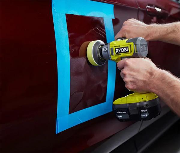 Ryobi 18V Cordless Polisher Sander PBF102B Used on Automotive Paint Repair