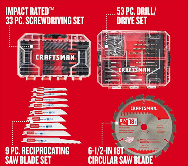 Craftsman Master Power Tool Accessory Set