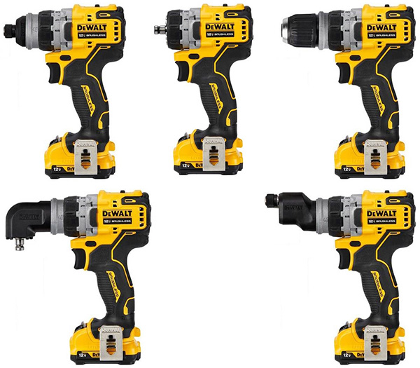 Dewalt DCD703F1 Xtreme 5-in-1 Cordless Drill Driver Configurations