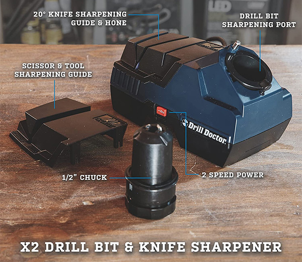 Drill Doctor X2 Drill Bit and Knife Sharpener Features