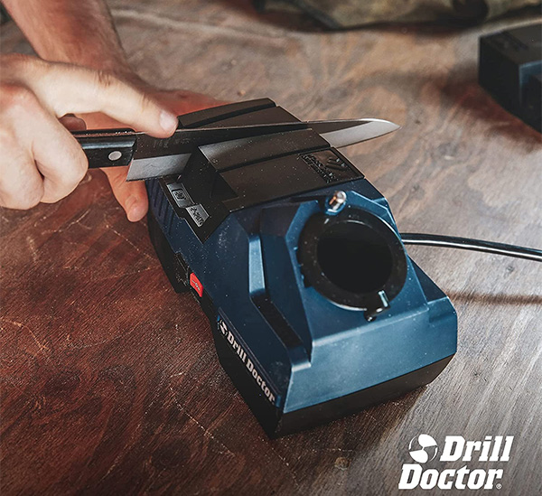 Drill Doctor X2 Drill Bit and Knife Sharpener with Kitchen Knife