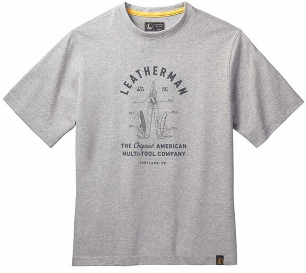 Leatherman T-Shirt Made in USA with Multi-Tool Graphic