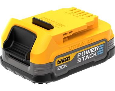 Dewalt PowerStack Cordless Power Tool Battery Angled Thumbnail