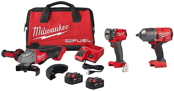 Milwaukee M18 Fuel Grinder and Impact Wrenches Promo Bundle