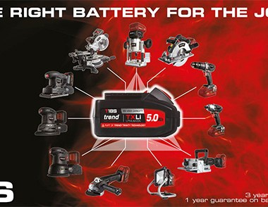 Trend Cordless Power Tool System - Right Battery Banner