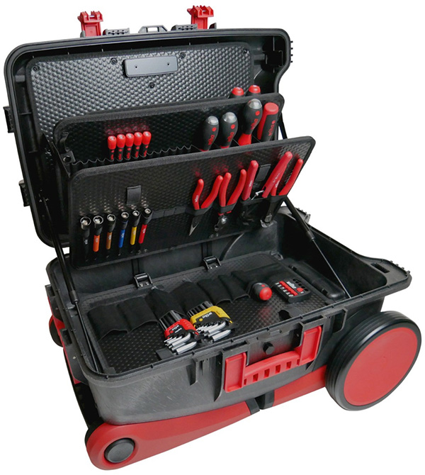 Wiha XXL3 PRO Tool Box Open with Tools