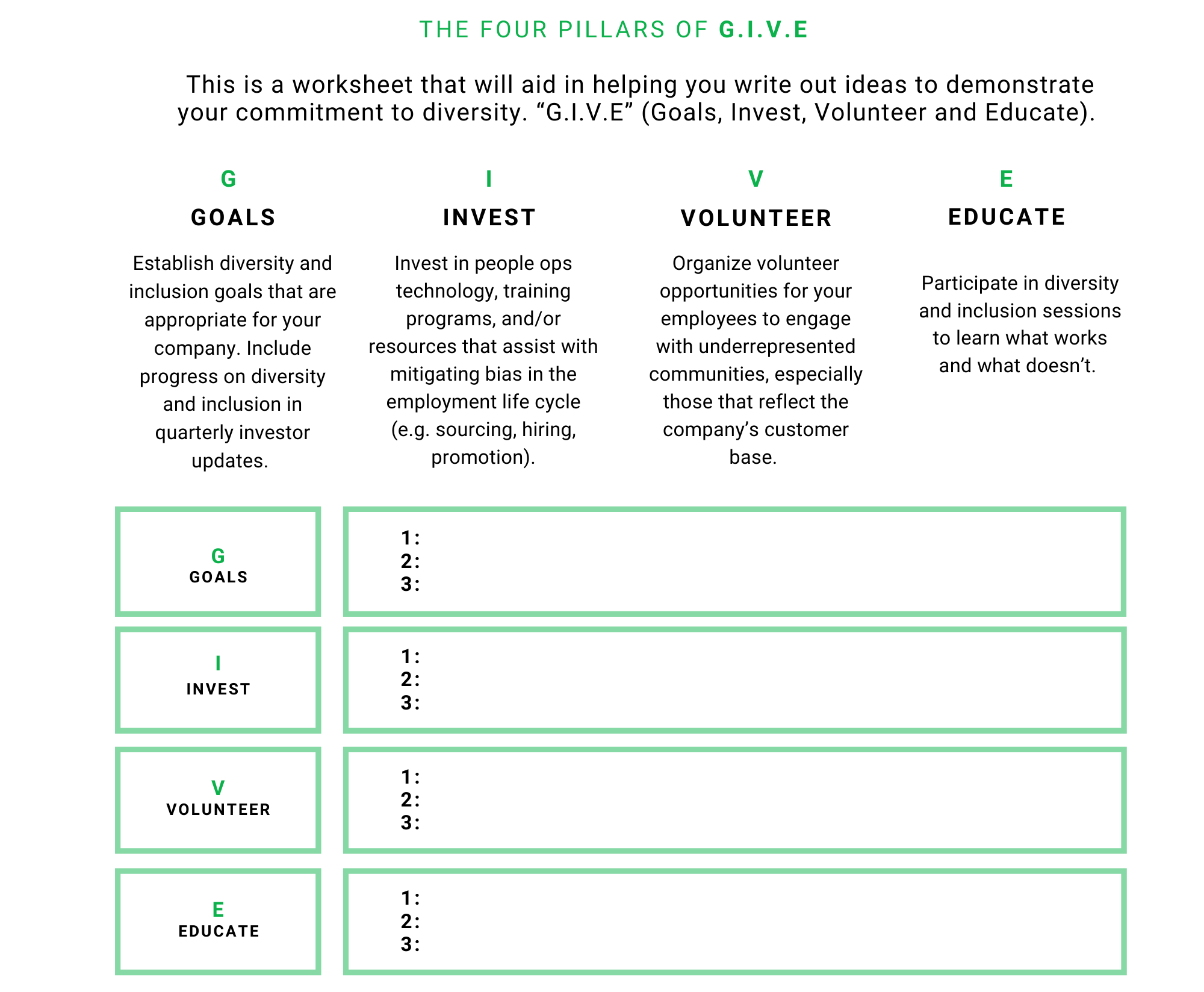 Build Your Investor Pipeline Worksheet