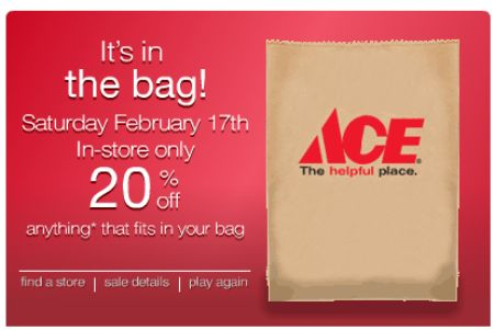 Deals Ace Hardware S Bag Sale This Saturday Toolmonger