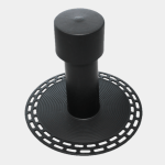 Black EPDM Flat Roof Vent Available in 75mm or 110mm