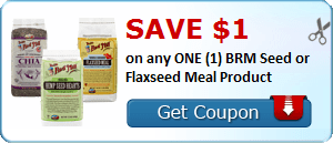 Save $1.00 on any ONE (1) BRM Seed or Flaxseed Meal Product