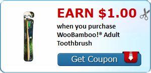 Earn $1.00 when you purchase WooBamboo!® Adult Toothbrush