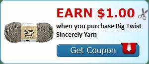 Earn $1.00 when you purchase Big Twist Sincerely Yarn
