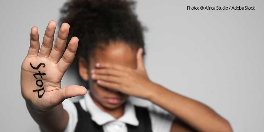 Stop Racism Girl's Hand