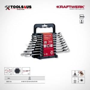 3503-56 Juego de llaves combinadas en acero inoxidable inox 9 piezas kraftwerk _01