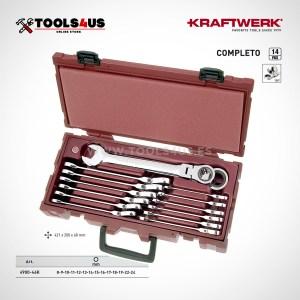4900 46k estuche herramientas juego llaves combinadas carraca flexible 02