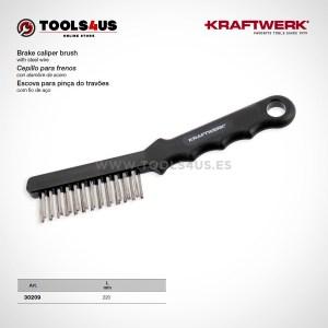 30209 KRAFTWERK herramientas taller barcelona Cepillo de Acero para limpieza de frenos 01