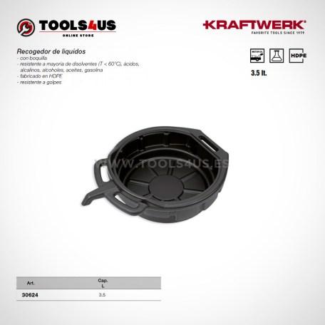 30624 KRAFTWERK herramientas taller barcelona espana Recogedor Aceite Liquidos 3litros 01