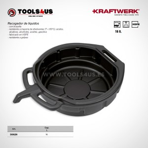 30626 KRAFTWERK herramientas taller barcelona espana Recogedor Aceite Liquidos 16litros 01