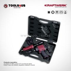31015 KRAFTWERK herramientas taller barcelona españa Conjunto pistola y carraca neumatica _01
