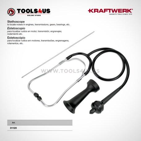 31120 KRAFTWERK herramientas taller barcelona espana Estetoscopio analogico diagnosis automocion 01