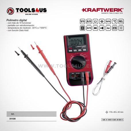 31130 KRAFTWERK herramientas taller barcelona espana Polimetro Multimetro digital de calidad 01