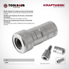 31308 KRAFTWERK herramientas taller barcelona espana Cepillo limpieza bornes terminales bateria 01