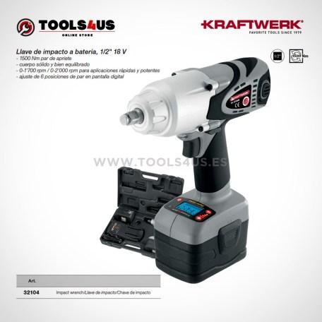 32104 KRAFTWERK herramientas taller barcelona españa catalunya Pistola impacto a bateria 18V Kraftwerk 01