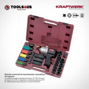 3837K KRAFTWERK herramientas taller barcelona españa Estuche universal herramientas neumaticas impacto pistola _01