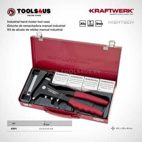 4261 KRAFTWERK herramientas taller barcelona espana Estuche remachadora manual industrial 01