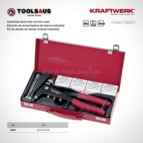 4263 KRAFTWERK herramientas taller barcelona espana Estuche remachadora tuerca industrial 01