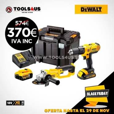 Ahorrate más de 200€ con este kit de radial y taladro de batería de 18V? #DeWalt #blackfriday #herramientasprofesionales ya disponible en nuestra tienda online