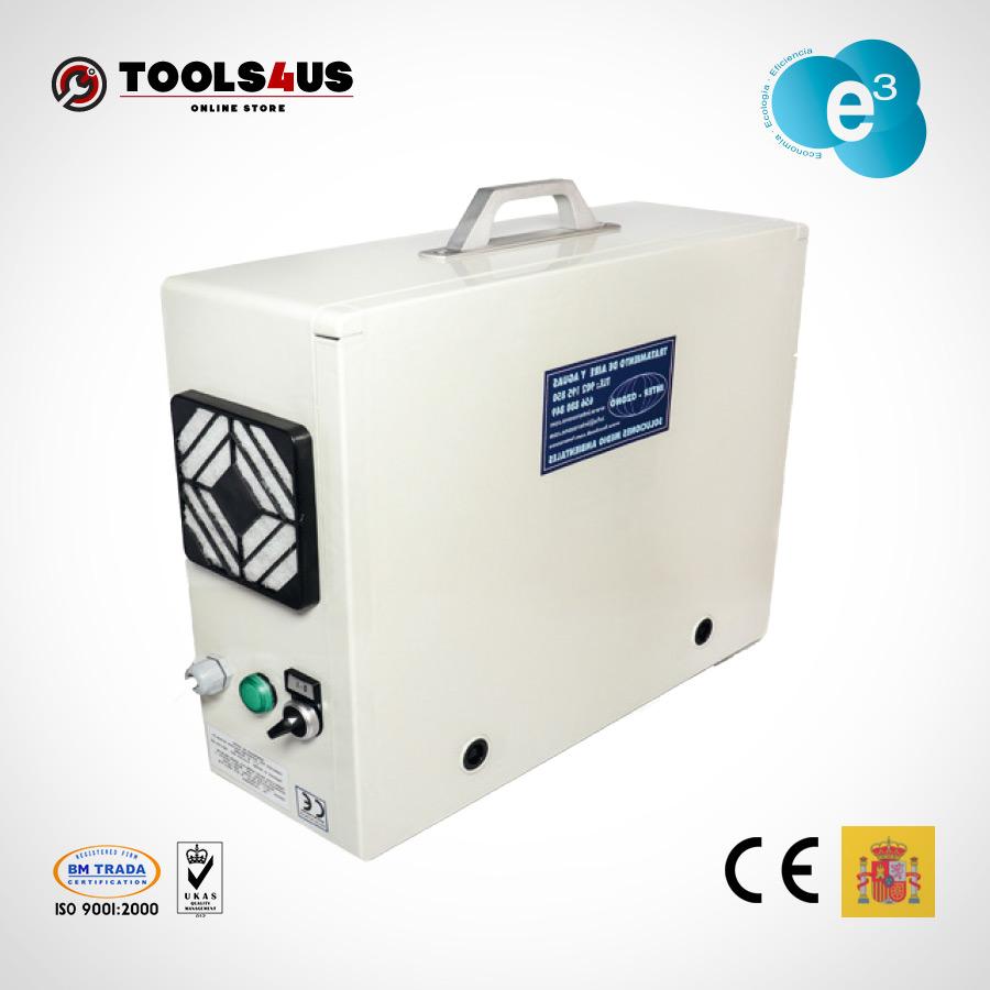 equipo generador ozono portatil oficinas naves desinfectante ambientes aire hoteles locales vehiculos 1000mg 01 - Generador de Ozono Portatil 1000mg