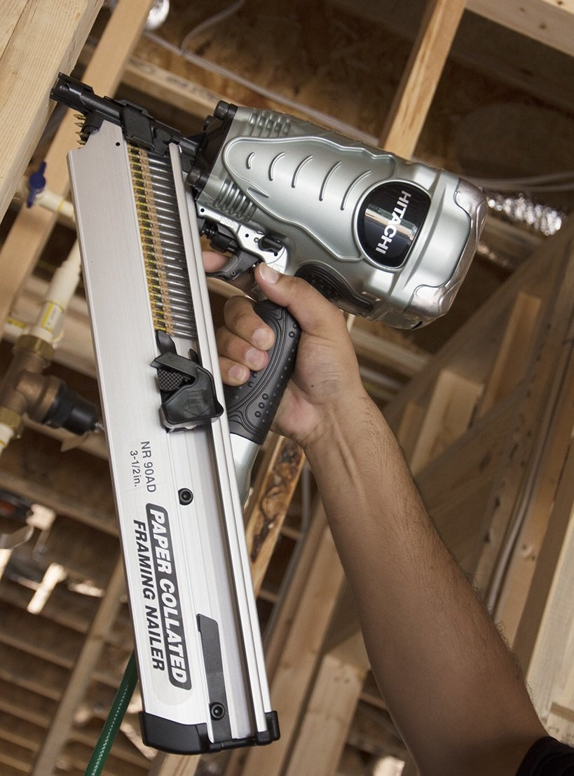 Hitachi NR90AD Clipped Head Paper Collated Framing Strip Nailer