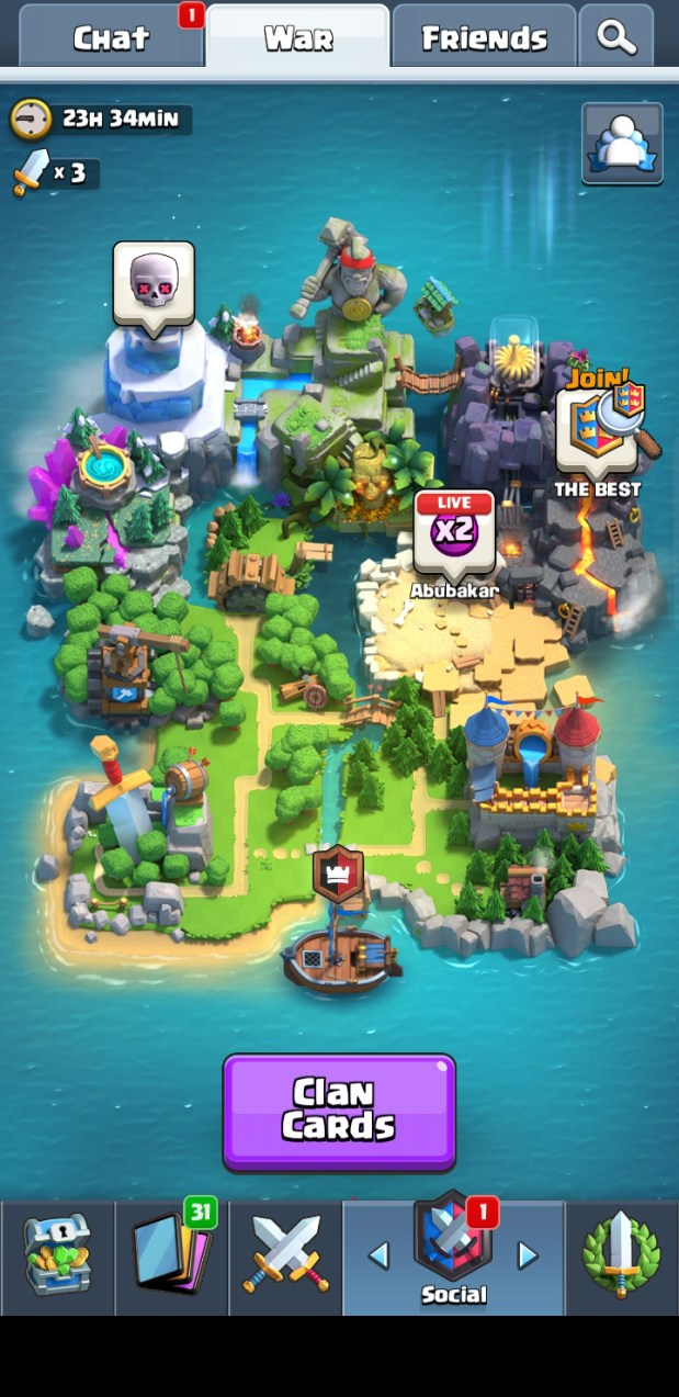 Clash Royale 2.2.1 Apk Clan Wars