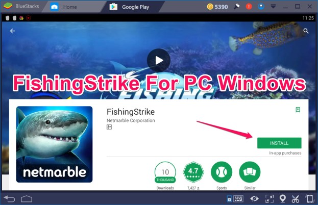 FishingStrike PC Windows 10 Mac
