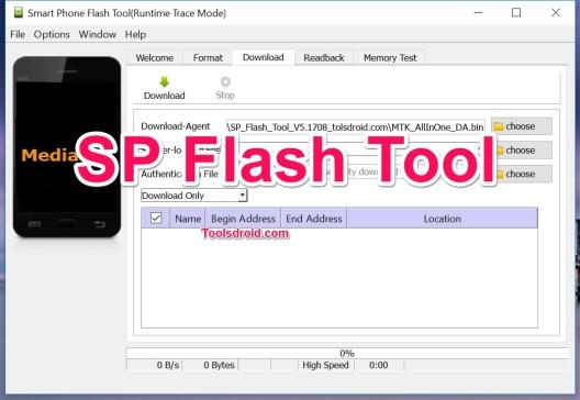 SP FLash Tool MTK Mediatek